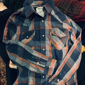 Levi's Two Horse Brand Western Style Plaid Shirt
